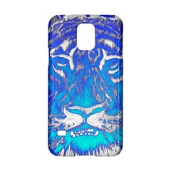 Background Fabric With Tiger Head Pattern Samsung Galaxy S5 Hardshell Case  by Amaryn4rt