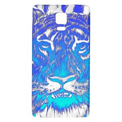 Background Fabric With Tiger Head Pattern Galaxy Note 4 Back Case by Amaryn4rt
