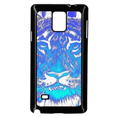 Background Fabric With Tiger Head Pattern Samsung Galaxy Note 4 Case (black) by Amaryn4rt