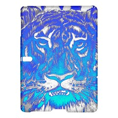 Background Fabric With Tiger Head Pattern Samsung Galaxy Tab S (10 5 ) Hardshell Case  by Amaryn4rt