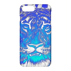 Background Fabric With Tiger Head Pattern Apple Iphone 7 Plus Hardshell Case by Amaryn4rt