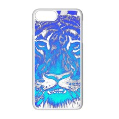 Background Fabric With Tiger Head Pattern Apple Iphone 7 Plus White Seamless Case