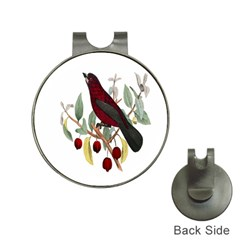Bird On Branch Illustration Hat Clips With Golf Markers by Amaryn4rt