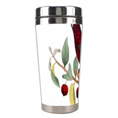 Bird On Branch Illustration Stainless Steel Travel Tumblers by Amaryn4rt