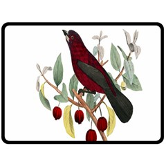 Bird On Branch Illustration Double Sided Fleece Blanket (large)  by Amaryn4rt