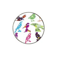 Birds Colorful Floral Funky Hat Clip Ball Marker (4 Pack) by Amaryn4rt