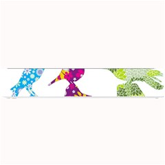 Birds Colorful Floral Funky Small Bar Mats by Amaryn4rt