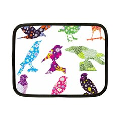 Birds Colorful Floral Funky Netbook Case (small)  by Amaryn4rt