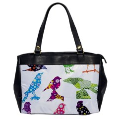 Birds Colorful Floral Funky Office Handbags by Amaryn4rt