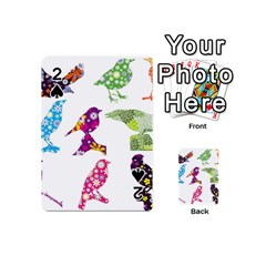 Birds Colorful Floral Funky Playing Cards 54 (mini)  by Amaryn4rt