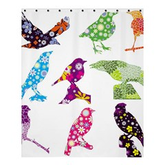 Birds Colorful Floral Funky Shower Curtain 60  X 72  (medium)  by Amaryn4rt