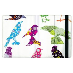 Birds Colorful Floral Funky Apple Ipad 3/4 Flip Case by Amaryn4rt