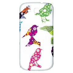 Birds Colorful Floral Funky Samsung Galaxy S3 S Iii Classic Hardshell Back Case by Amaryn4rt