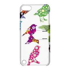 Birds Colorful Floral Funky Apple Ipod Touch 5 Hardshell Case With Stand by Amaryn4rt