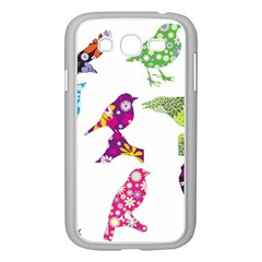 Birds Colorful Floral Funky Samsung Galaxy Grand Duos I9082 Case (white) by Amaryn4rt