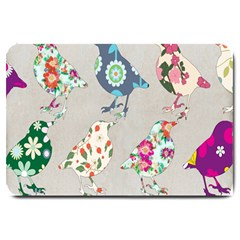 Birds Floral Pattern Wallpaper Large Doormat  by Amaryn4rt
