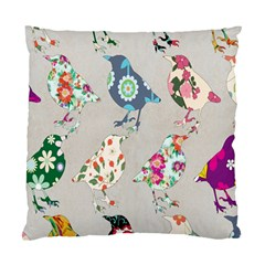 Birds Floral Pattern Wallpaper Standard Cushion Case (two Sides) by Amaryn4rt