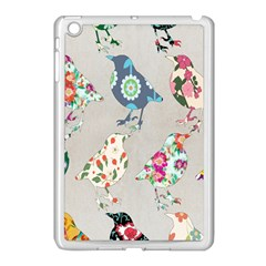 Birds Floral Pattern Wallpaper Apple Ipad Mini Case (white) by Amaryn4rt
