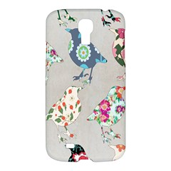 Birds Floral Pattern Wallpaper Samsung Galaxy S4 I9500/i9505 Hardshell Case by Amaryn4rt