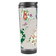 Birds Floral Pattern Wallpaper Travel Tumbler by Amaryn4rt