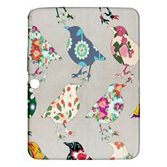 Birds Floral Pattern Wallpaper Samsung Galaxy Tab 3 (10 1 ) P5200 Hardshell Case  by Amaryn4rt