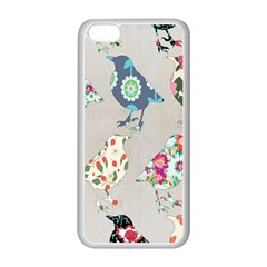 Birds Floral Pattern Wallpaper Apple Iphone 5c Seamless Case (white) by Amaryn4rt