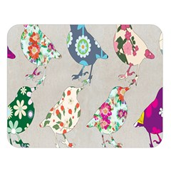 Birds Floral Pattern Wallpaper Double Sided Flano Blanket (large)  by Amaryn4rt