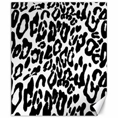 Black And White Leopard Skin Canvas 8  X 10  by Amaryn4rt