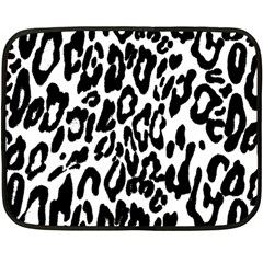 Black And White Leopard Skin Double Sided Fleece Blanket (mini)  by Amaryn4rt