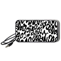 Black And White Leopard Skin Portable Speaker (black) by Amaryn4rt