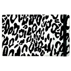 Black And White Leopard Skin Apple Ipad 2 Flip Case by Amaryn4rt