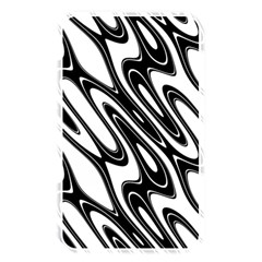 Black And White Wave Abstract Memory Card Reader by Amaryn4rt