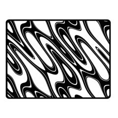 Black And White Wave Abstract Fleece Blanket (small) by Amaryn4rt