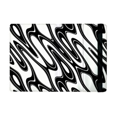 Black And White Wave Abstract Apple Ipad Mini Flip Case by Amaryn4rt