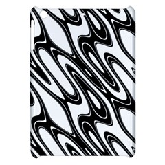 Black And White Wave Abstract Apple Ipad Mini Hardshell Case by Amaryn4rt