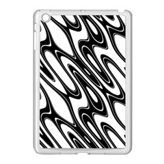 Black And White Wave Abstract Apple Ipad Mini Case (white) by Amaryn4rt
