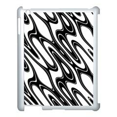 Black And White Wave Abstract Apple Ipad 3/4 Case (white) by Amaryn4rt