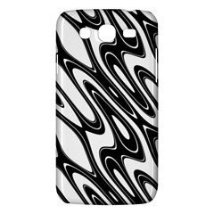 Black And White Wave Abstract Samsung Galaxy Mega 5 8 I9152 Hardshell Case  by Amaryn4rt