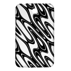 Black And White Wave Abstract Samsung Galaxy Tab 3 (7 ) P3200 Hardshell Case  by Amaryn4rt