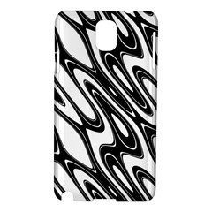 Black And White Wave Abstract Samsung Galaxy Note 3 N9005 Hardshell Case by Amaryn4rt