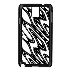 Black And White Wave Abstract Samsung Galaxy Note 3 N9005 Case (black)