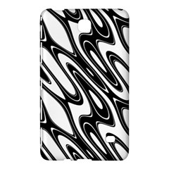 Black And White Wave Abstract Samsung Galaxy Tab 4 (8 ) Hardshell Case  by Amaryn4rt
