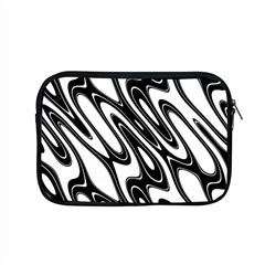 Black And White Wave Abstract Apple Macbook Pro 15  Zipper Case