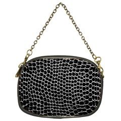 Black White Crocodile Background Chain Purses (one Side)  by Amaryn4rt
