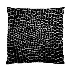 Black White Crocodile Background Standard Cushion Case (two Sides) by Amaryn4rt