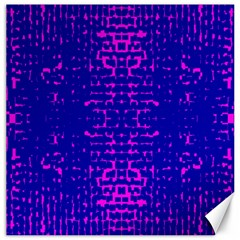 Blue And Pink Pixel Pattern Canvas 16  X 16   by Amaryn4rt