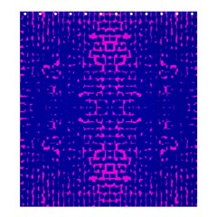 Blue And Pink Pixel Pattern Shower Curtain 66  X 72  (large)  by Amaryn4rt