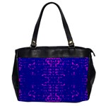 Blue And Pink Pixel Pattern Office Handbags Front