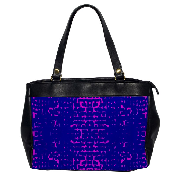 Blue And Pink Pixel Pattern Office Handbags