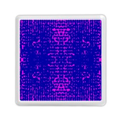 Blue And Pink Pixel Pattern Memory Card Reader (square)  by Amaryn4rt
